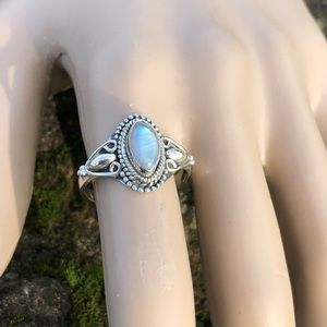 NEW! Rainbow Moonstone Ring